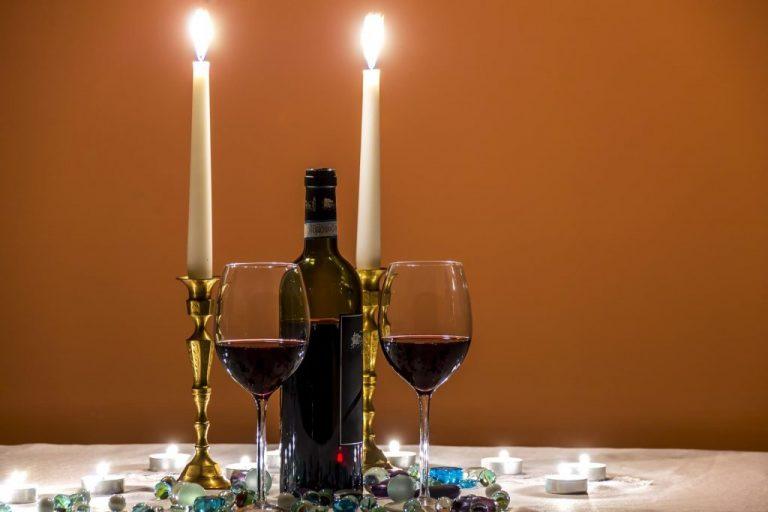 cena romantica lago di garda