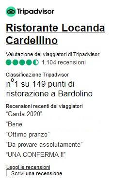 Recensioni Tripadvisor Al Cardellino